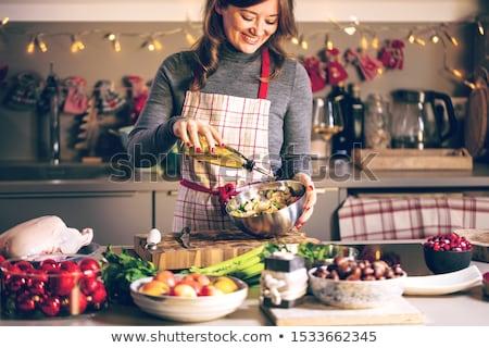 Photo stock: Saine · vacances · manger · nouvelle · année · régime
