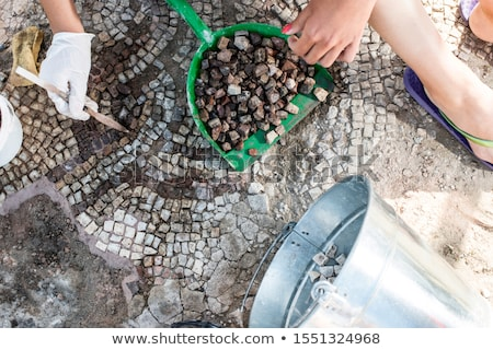 Archaeologists recover artifacts mosaic.  Stock photo © deyangeorgiev