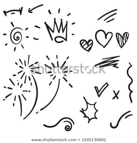 vintage design elements heart and line arrows Stock photo © MaxPainter