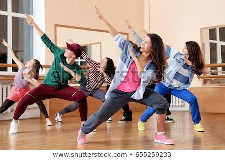 man · poseren · vrouw · zumba · dans · school - stockfoto © kzenon