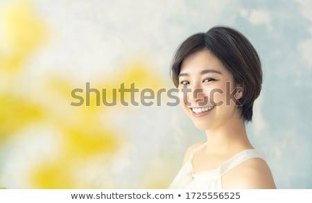 asian girl smiling living a healthy lifestyle stock photo © maridav