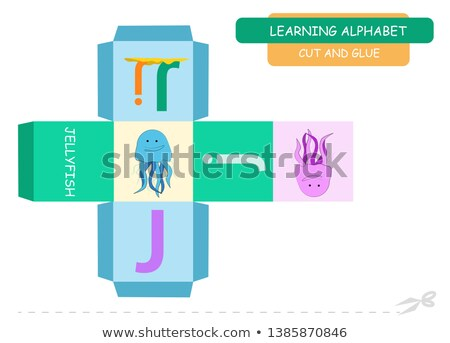 Flashcard letter J is for jigsaw Stock photo © bluering