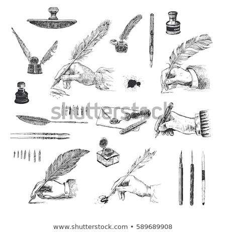 caneta-tinteiro · elegante · isolado · branco · negócio · luz - foto stock © angelp