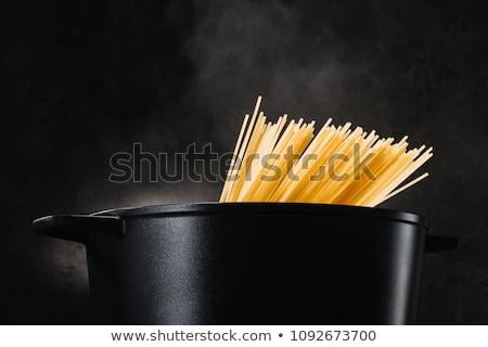 Főtt spagetti stúdiófelvétel tészta fehér háttér hozzávaló Stock fotó © Digifoodstock
