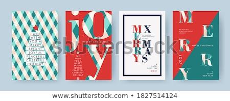 Abstract vector typography Christmas card Stock photo © orson