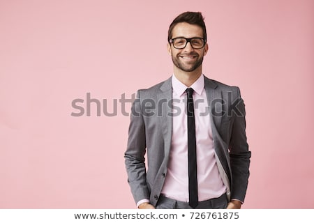 colorful portrait of a handsome guy stock photo © konradbak