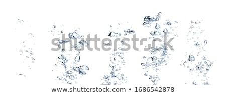 Lucht bubbels water natuur achtergrond oceaan Stockfoto © zven0