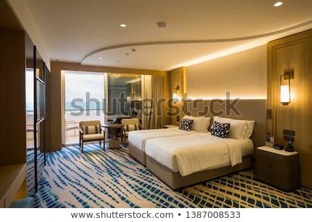 table · modernes · hôtel · maison · meubles · lampe - photo stock © elnur