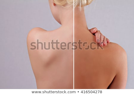 Before And After Result Of Female Tanning Body Stock photo © AndreyPopov