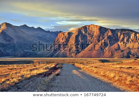 Stock photo: Steppe on a background of mountains
