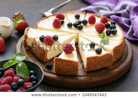 Piece of homemade cheese cake Stock photo © nalinratphi