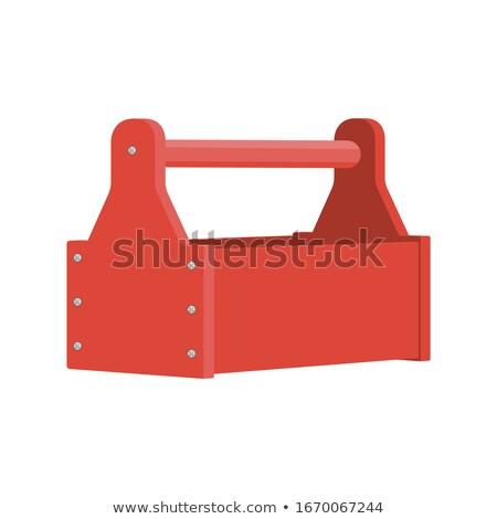 przybornik · plastikowe · narzędzia · biały · strony · przemysłowych - zdjęcia stock © devon