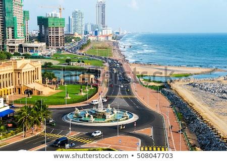 Kilátás tenger óceán Sri Lanka utazás turizmus Stock fotó © dolgachov