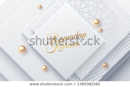 mosque shape background in golden sparkle background Stock photo © SArts