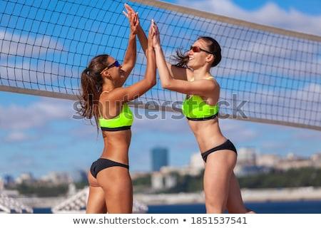 Deux athlétique filles bikini image numérique Photo stock © amok