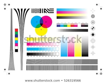 nyomtató · illusztráció · nyomtatott · fekete · szín · sajtó - stock fotó © adrenalina