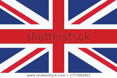 illustration of eu flag and flag of united kingdom isolated white stock photo © tussik