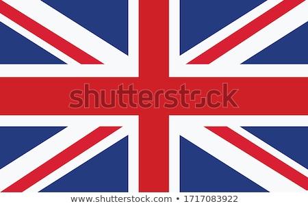 Ilustracja eu banderą Zjednoczone Królestwo odizolowany biały Zdjęcia stock © tussik