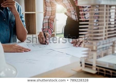 здании развивающийся строительство архитектура инженер Дать Сток-фото © stevanovicigor