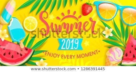 夏場 パノラマ 海 海岸 手のひら ストックフォト © user_10003441