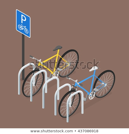 Isometric Bicycle Parking. Flat style, vector. Stock photo © curiosity