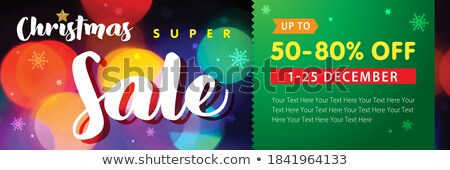 super sale horizontal banner or voucher card template Stock photo © SArts