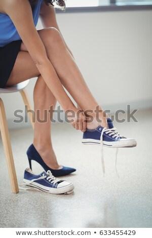 低い セクション 女性 着用 キャンバス 靴 ストックフォト © wavebreak_media