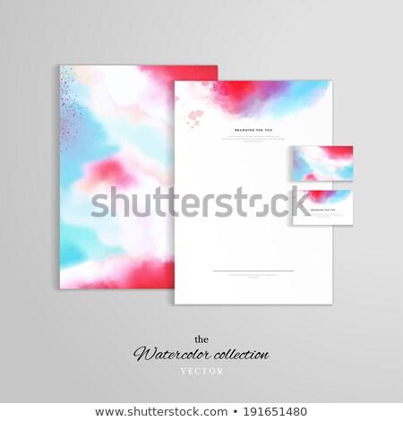 Abstrakten Briefkopf Vorlage Design malen Corporate Stock foto © SArts