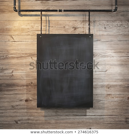 Black Chalkboard with Be Creative Concept. 3D Rendering. Stock photo © tashatuvango