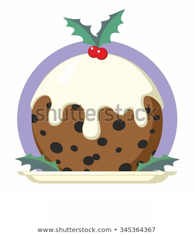 Noël prune pouding cartoon illustration design Photo stock © Krisdog