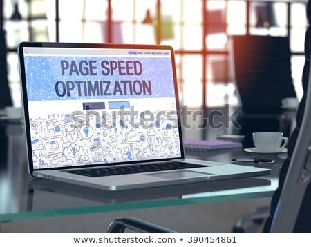 Pagina velocità ottimizzazione laptop schermo 3D Foto d'archivio © tashatuvango
