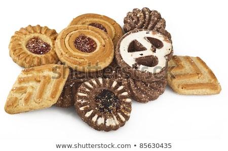Keksz fűszer háttér torta szakács ünneplés Stock fotó © M-studio