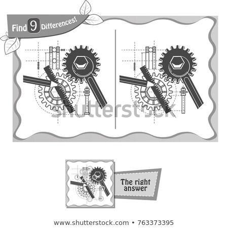 Vinden verschillen spel architect zwarte kinderen Stockfoto © Olena
