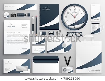 Zdjęcia stock: Modern Clean Brand Stationery Template Set