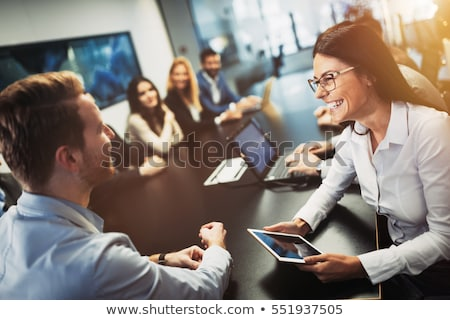 Group of people at a conference table Stock photo © IS2