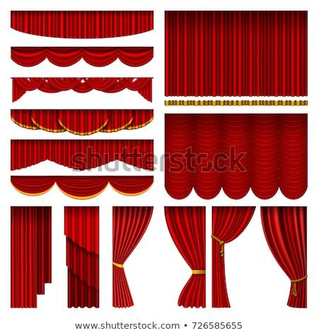 red theatrical curtain vector illustration Stock photo © konturvid