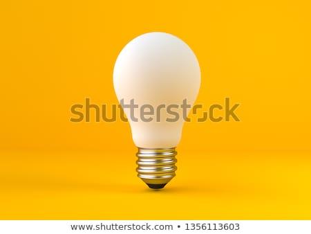Fikir lamba ampul sarı Retro elektrik Stok fotoğraf © romvo
