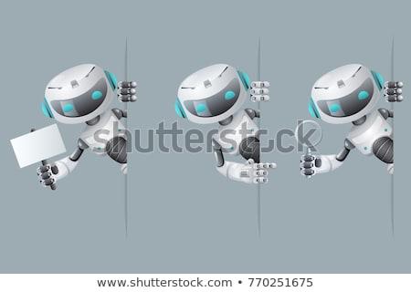3D insansı robot fütüristik android Stok fotoğraf © texelart