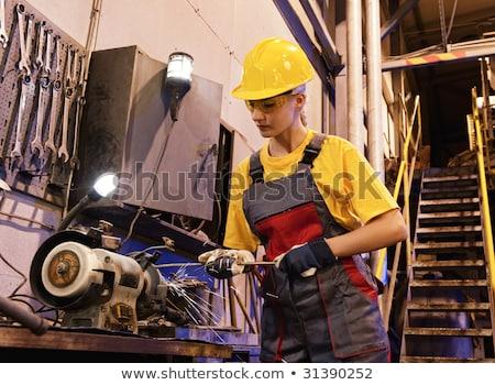 helmet construction worker women_complex Stock photo © toyotoyo