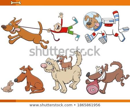 Rajz mosolyog tolvaj kutyakölyök kutya állat Stock fotó © cthoman