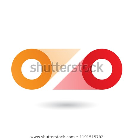Orange and Red Double Letter O Vector Illustration Stock photo © cidepix