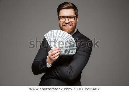 empresário · em · pé · isolado · dinheiro · imagem - foto stock © deandrobot