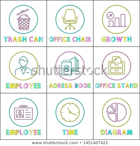 Growth Diagram with Arrow-up Rounded Lineart Icon Stock photo © robuart