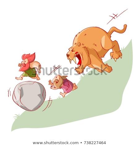 Cartoon tigre idée heureux Photo stock © cthoman