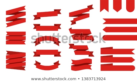 Ribbons Curved Banner Set Vector Illustration Stock photo © robuart