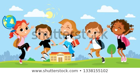 Arts Class School Time Poster with Smiling People Stock photo © robuart