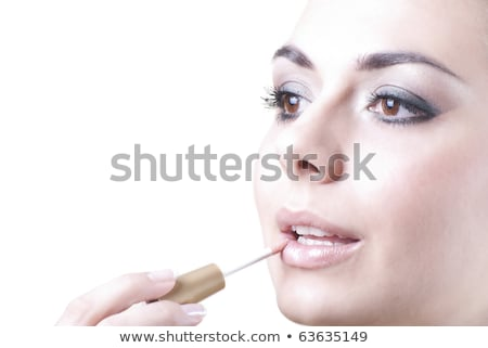 Morena belleza luz maquillaje retrato blanco Foto stock © lithian