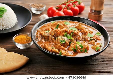 Strigliare pollo vegetali sfondo cena Foto d'archivio © M-studio