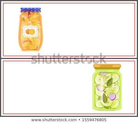 Preserved Food Posters, Vegetables in Marinade Stock photo © robuart