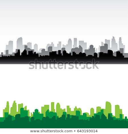 Urbanas paisaje urbano vista signo símbolo vector Foto stock © vector1st